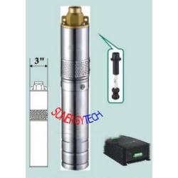 โซล่าปั๊ม ปั๊มสูบน้ำพลังงานแสงอาทิตย์ สูบน้ำลึก 80 ม. อัตรา 2,500 ลิตร/ชั่วโมง